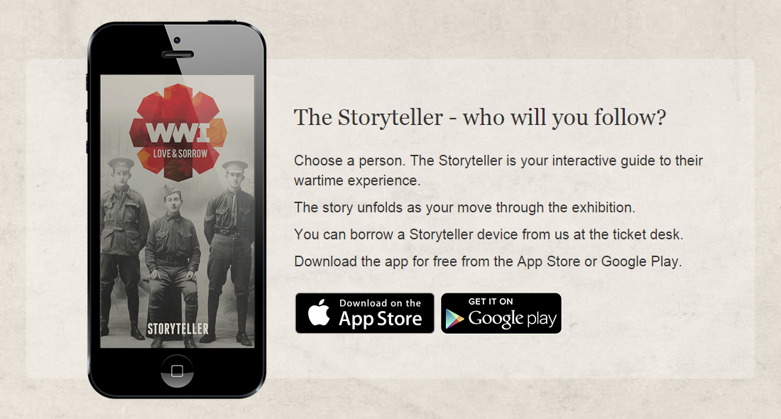 Storyteller – World War One: Love and Sorrow: A hybrid exhibition