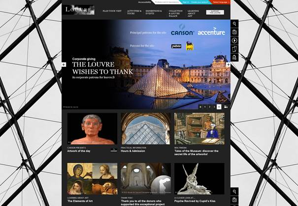 Figure 2 Offcial Website of musée du Louvre (Lourvre Museum)