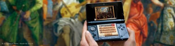 Figure 4 Audioguide Louvre-Nintendo 3DS ™ XL